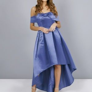 Chi Chi London special occasion dress color blue.